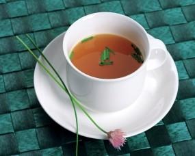 Холодный чай с цветочком