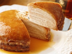 Обои Сладкий - слоеный пирог: Сахар, Пирог, К чаю, Еда
