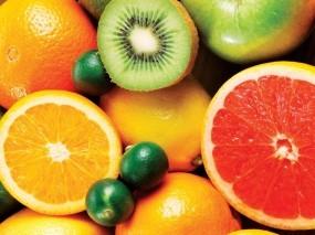 Обои Фрукты: Киви, Фрукты, Лимоны, Апельсины, Фейхоа, Еда