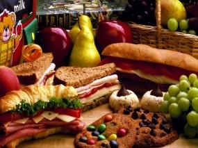 Обои Еда: Булочки, Сэндвич, Круассаны, Еда