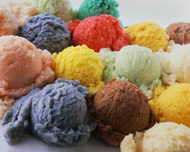 Цветное мороженное
