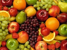 Обои Вкусные фрукты: Ягоды, Фрукты, Виноград, Апельсины, Еда