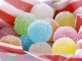 Обои Сладкие шарики: Шарики, Разноцветие, Еда