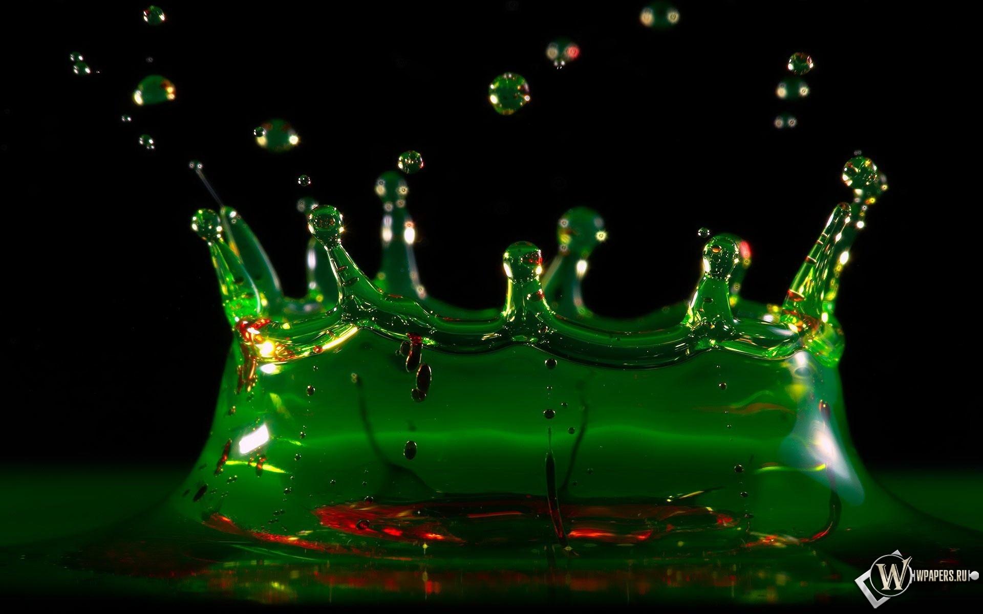 Зелёный всплеск 1920x1200