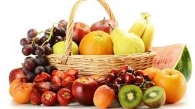 Обои Фруктовая корзина: Еда, Киви, Фрукты, Вишня, Виноград, Груша, Ягоды