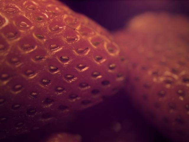 Макро клубника