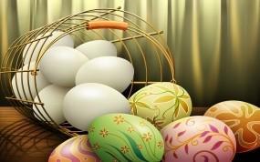 Обои Пасхальные яйца: Пасха, Яйца, Праздники