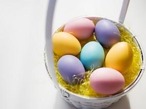 Обои Крашенные яйца: Пасха, Яйца, Корзинка, Праздники