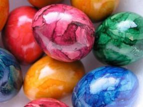 Обои Пасхальные яйца: Праздник, Пасха, Яйца, Перламутр, Праздники