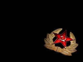 Обои Значок красной звезды: Серп и Молот, Значок, Знамя, День победы