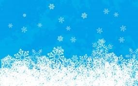 Снежинки на голубом