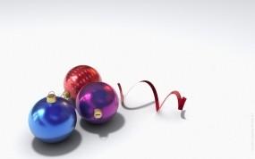 Обои Шарики с серпантином: Новый год, Шарики, Серпантин, Новый год
