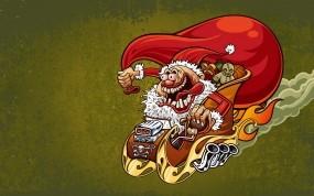 Обои Санта-Клаус: Новый год, Мешок, санта, Новый год