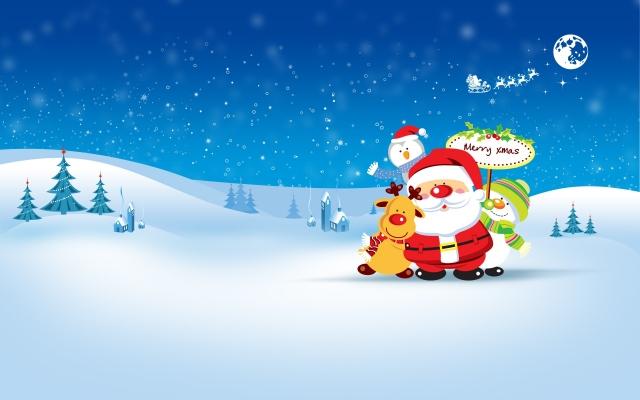 Санта с друзьями