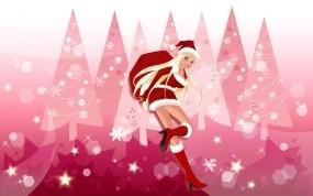 Обои Снегурочка: Новый год, Мешок, снегурка, Новый год