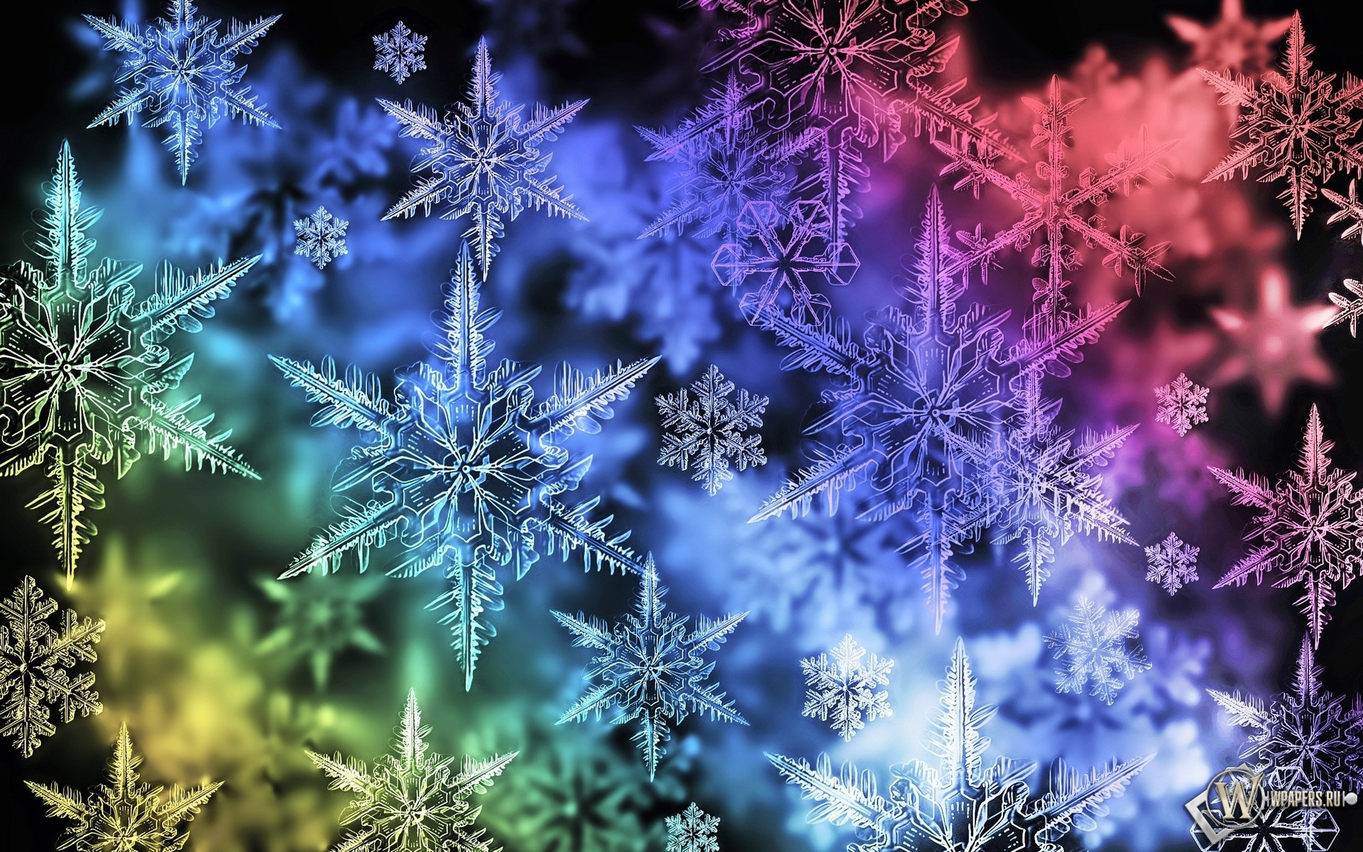 Снежинки 1920x1200