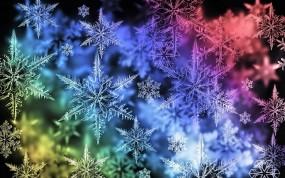 Обои Снежинки: Снежинки, Новый год, Цвет, Новый год