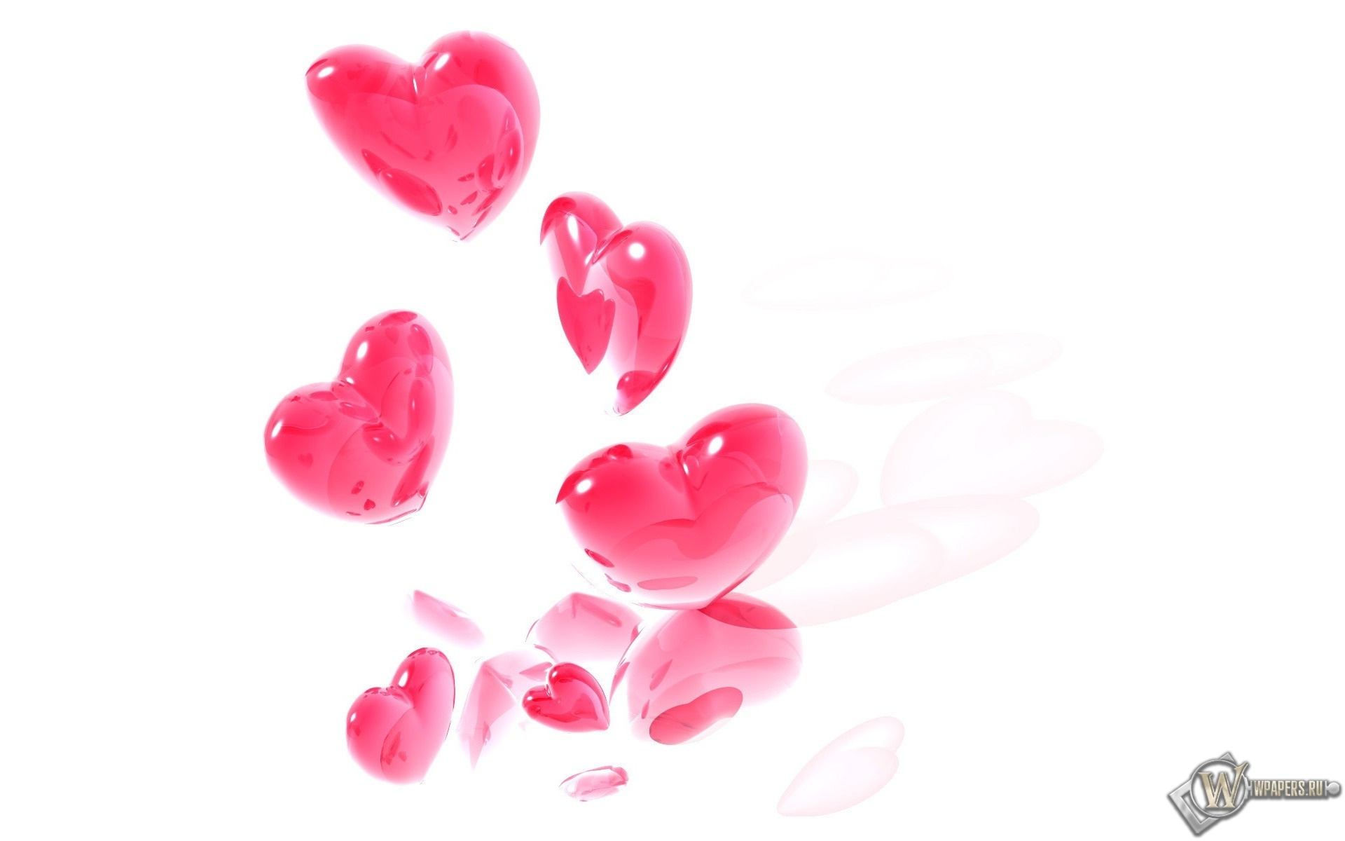 Розовые сердечки 1920x1200