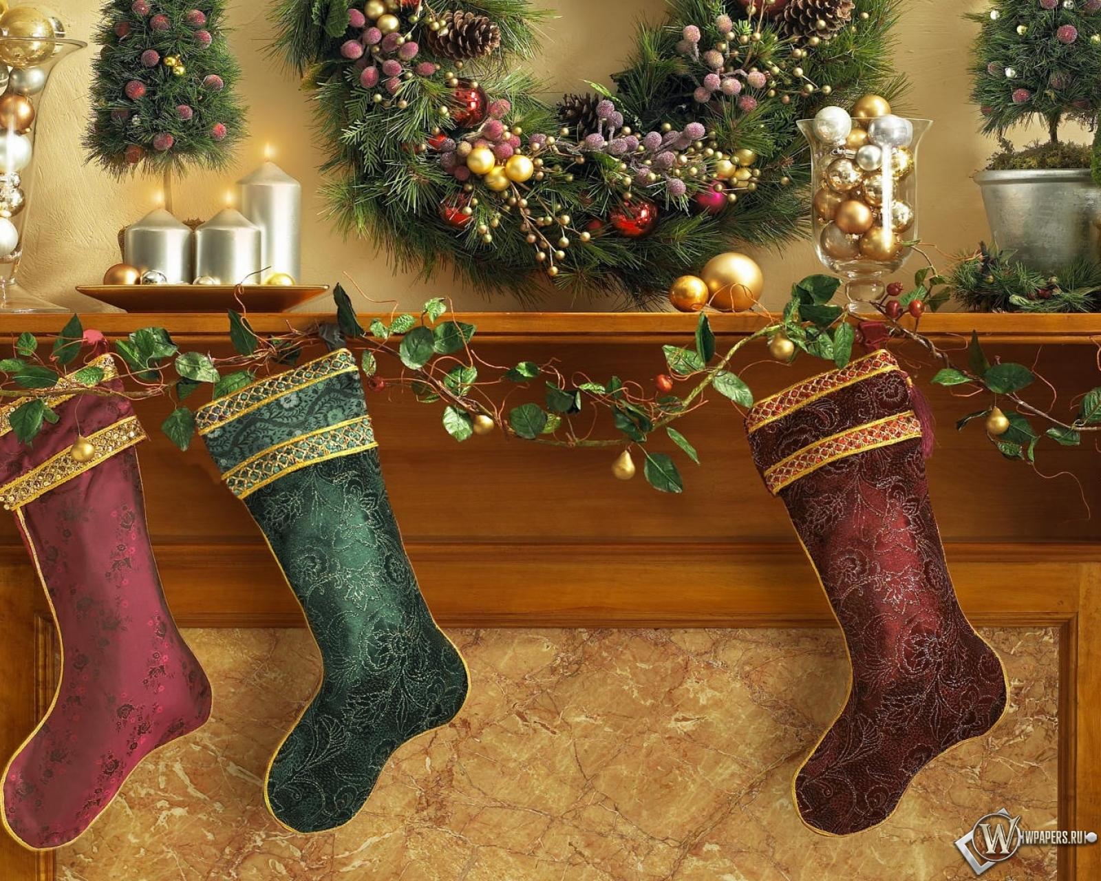 Рождественские носки 1600x1280