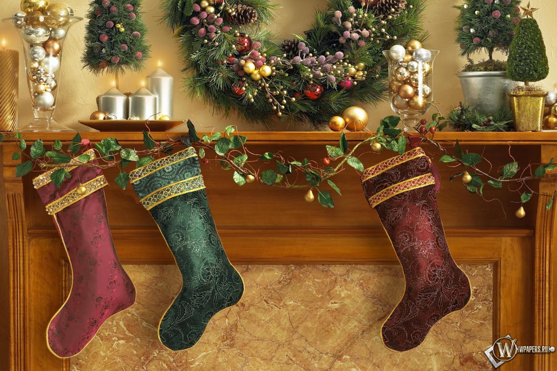 Рождественские носки 1920x1280