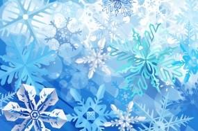 Обои Снежинки: Зима, Снежинки, Синий, Праздник, Новый год