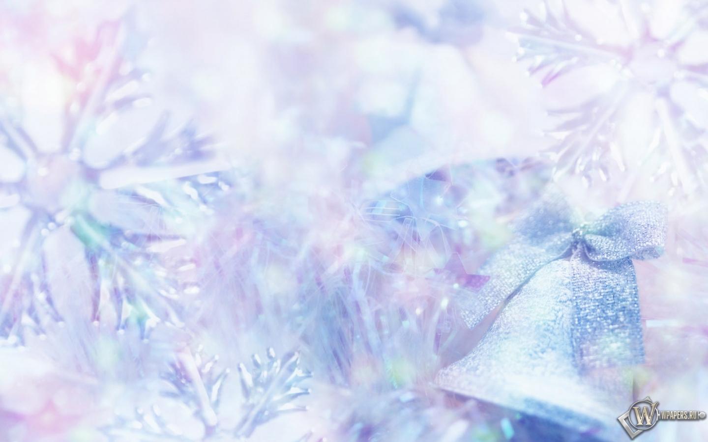Обои снежинки, колокольчики. Новый год foto 8