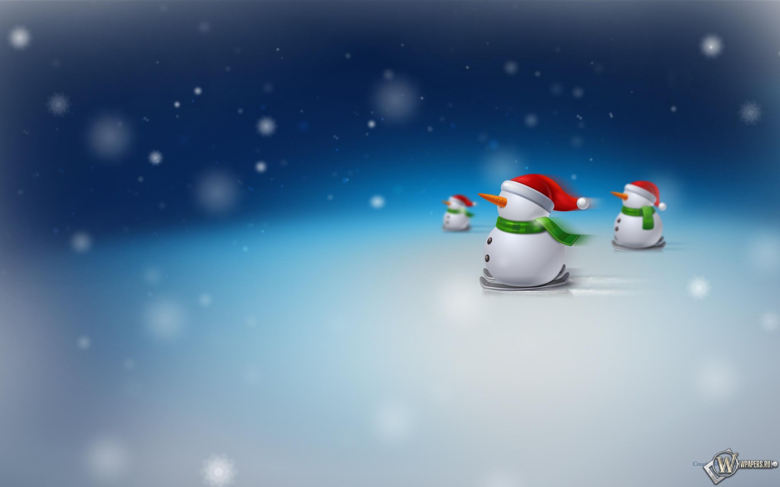 Снеговики 2560x1600