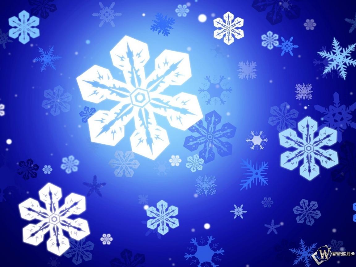 Снежинки 1152x864