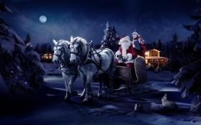 Обои Дед мороз со снегурочкой: Зима, Снегурочка, Новый год, Праздник, Дед Мороз, Новый год