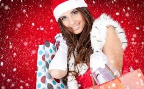 Обои Мисс зима: Снегурочка, Рождество, Праздник, Новый год