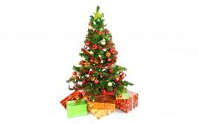 Обои Новогодняя ёлка: Новый год, Елка, Подарки, Украшения, Новый год