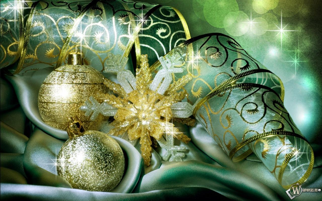 Новогодние праздничные шарики 1280x800