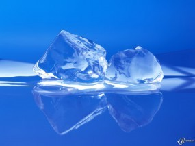 Обои Два кусочка льда: , Лёд