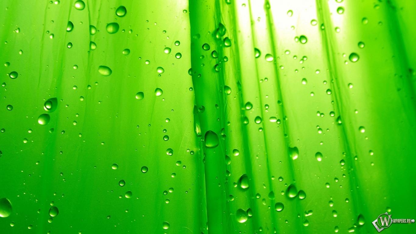 Зелёный фон 1366x768