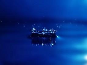 Обои Всплеск: Брызги, Синий, Капля, Вода