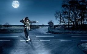 Обои Майкл Джексон: Дорога, Ночь, Майкл Джексон, Танец, Michael Jackson, Мужчины