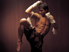 Обои Онг бак: Пресс, Тайский бокс, Мужчины