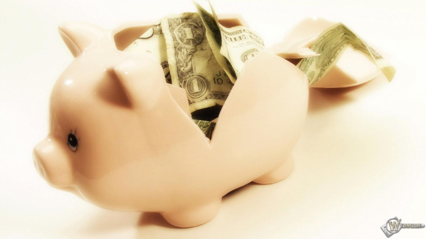 обои на рабочий стол поросенок с деньгами что бросилось глаза