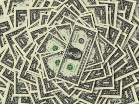 Обои Один Доллар: Банкноты, Купюры, Доллар, Деньги, Денежки, Деньги