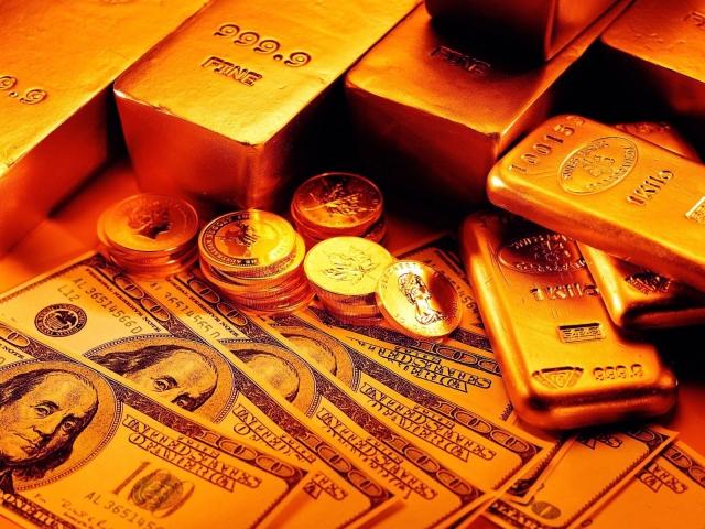 Слитки - монеты и бумажные деньги