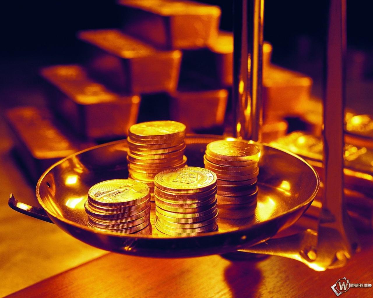 монеты на весах 1280x1024
