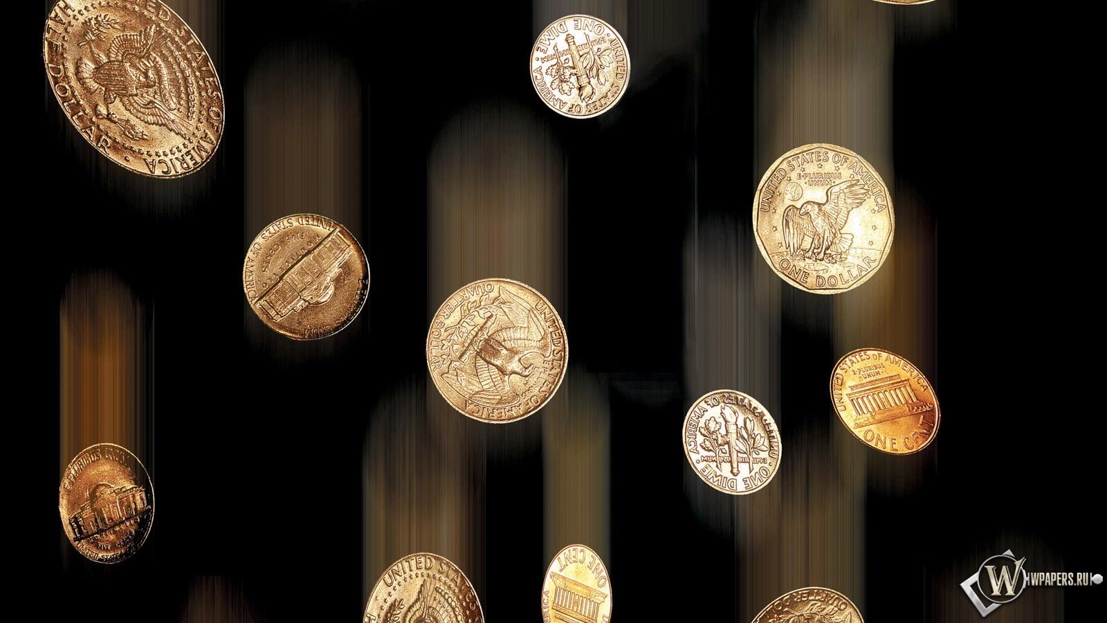 Дождь из монет 1600x900