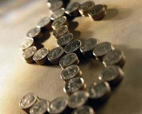 Доллар из монет