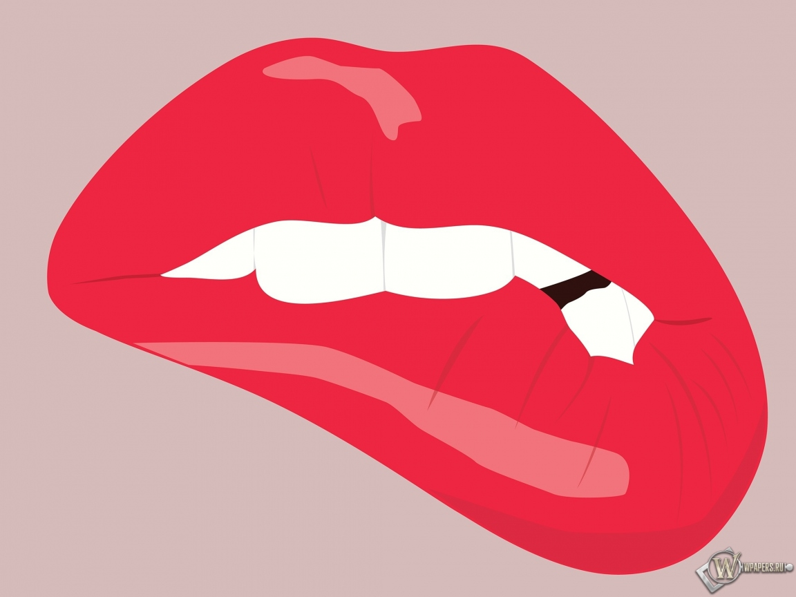 Прикушенные губы 1152x864