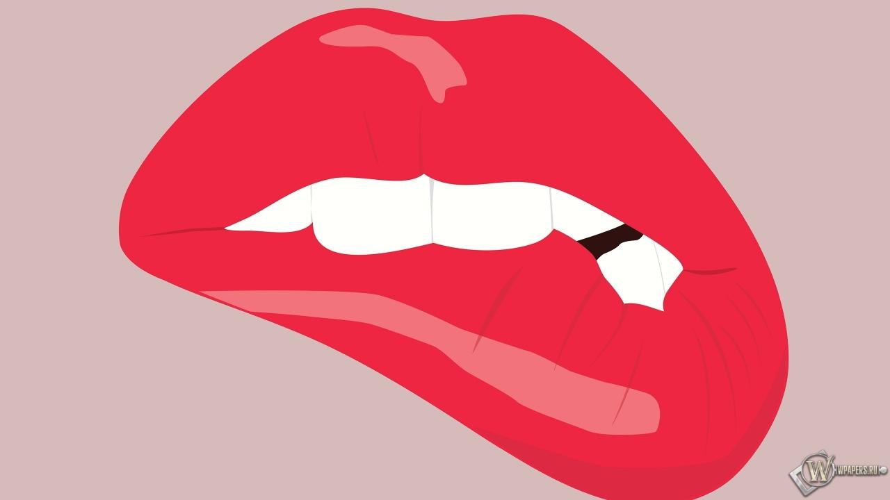 Прикушенные губы 1280x720