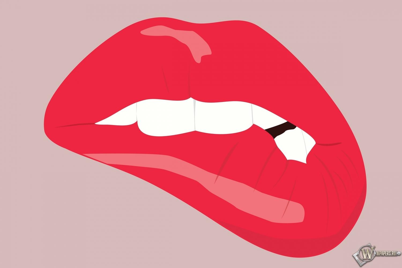 Прикушенные губы 1500x1000