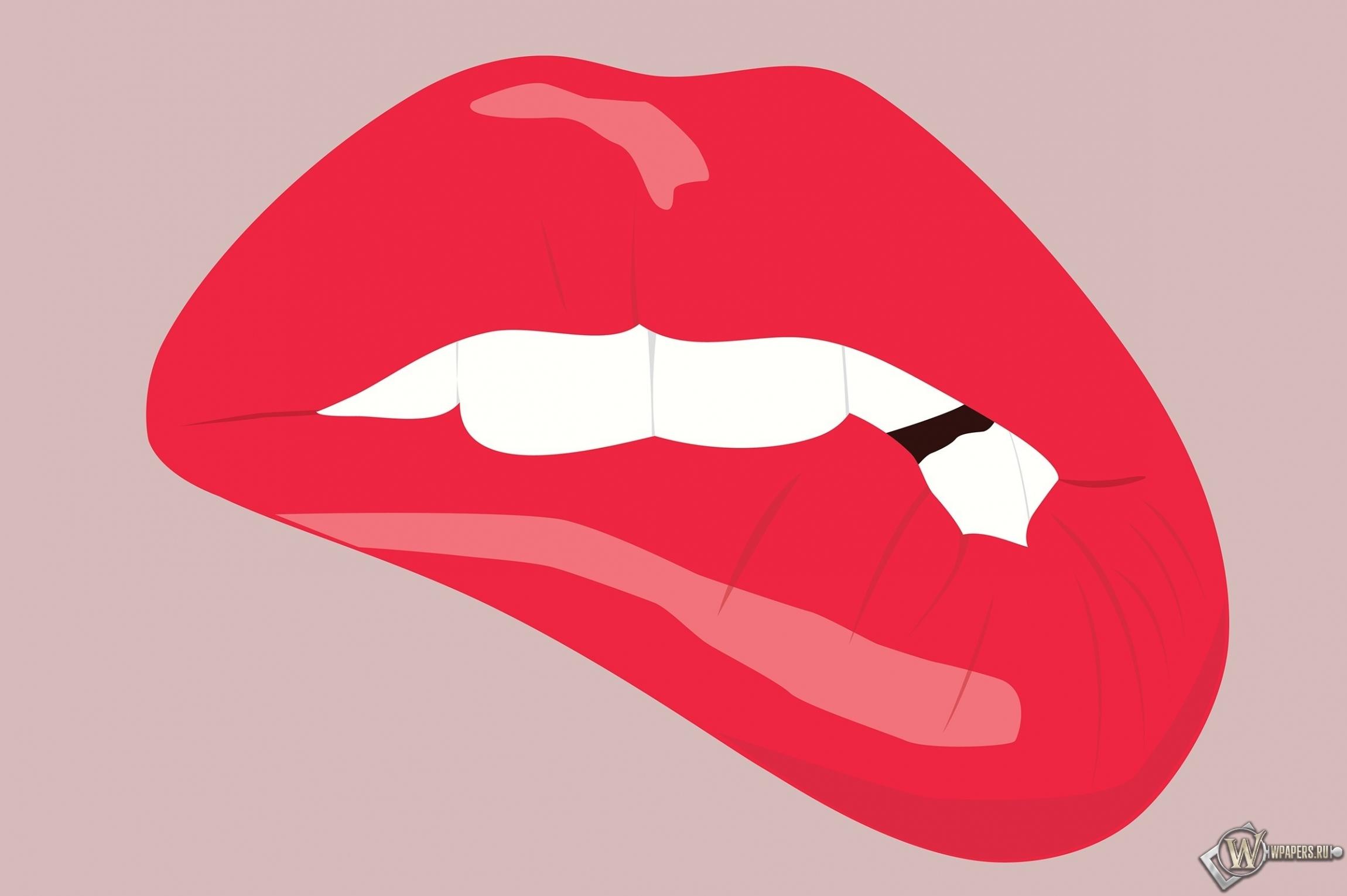 Прикушенные губы 2300x1530