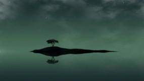 Обои Одинокий остров: Вода, Остров, Дерево, Одиночество, Настроения