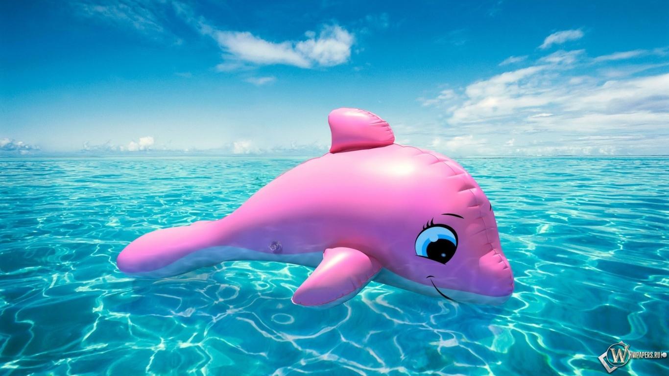Надувной дельфин 1366x768