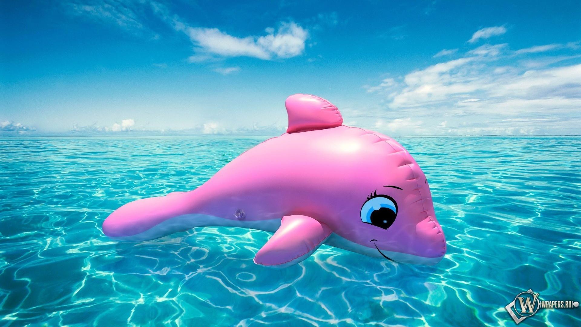 Надувной дельфин 1920x1080